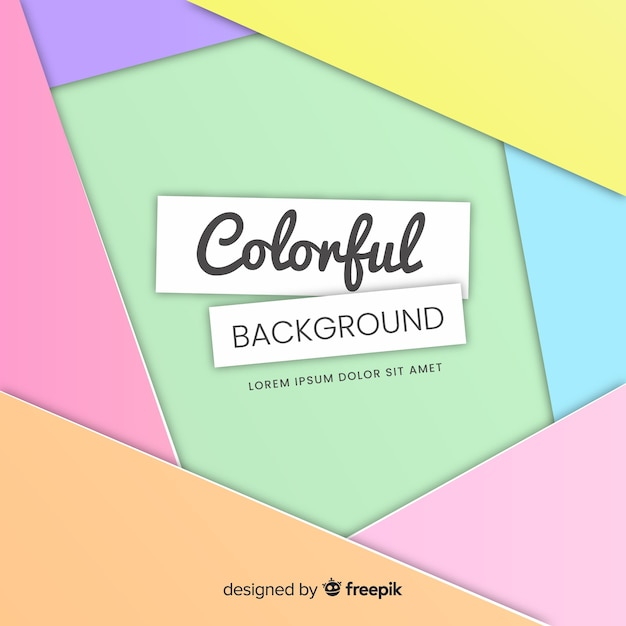 Colorful background Free Vector