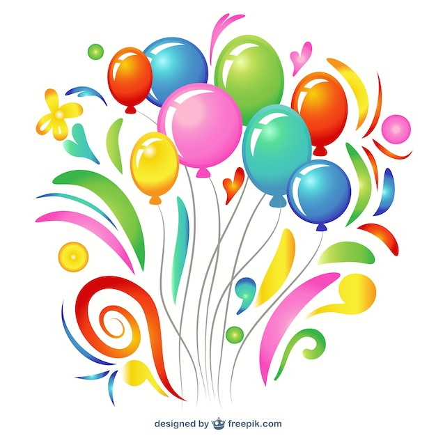 colorful balloon clip art vector free download rh freepik com