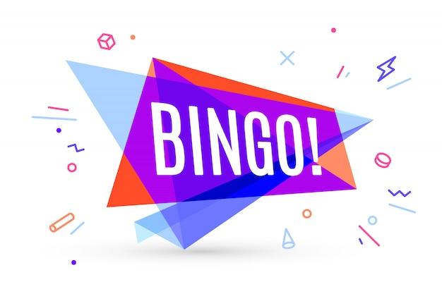 Colorful banner with text bingo Premium Vector