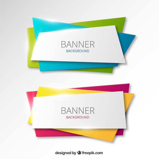 21 Download In Vector Eps Psd: Colorful Banners Background Vector