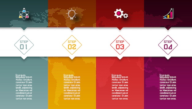 Colorful bars with business icon infographics Premium Vector