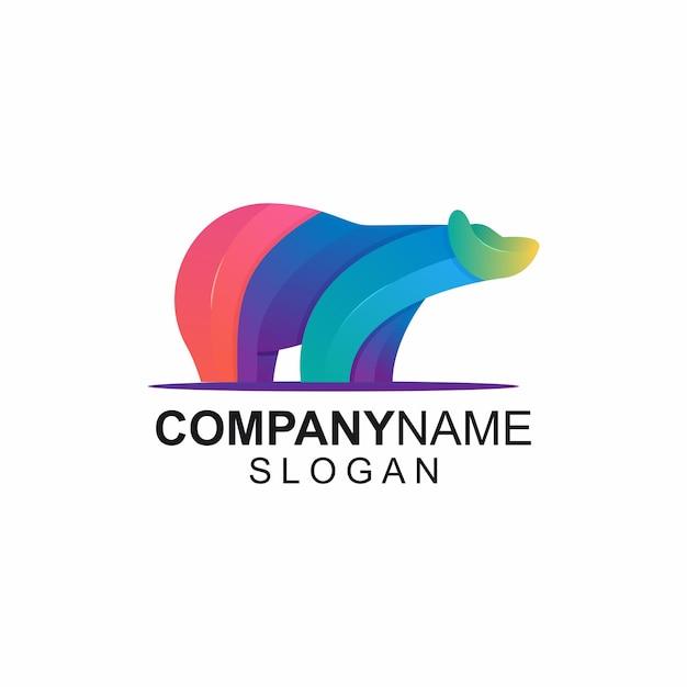 Colorful bear logo ideas Premium Vector