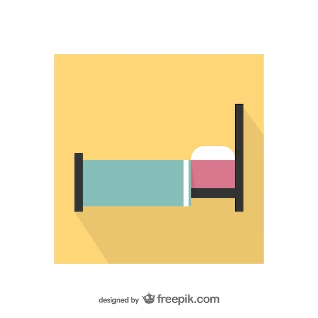 Colorful bed icon Free Vector