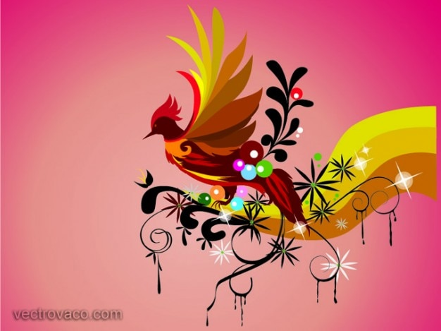 Colorful Bird Background