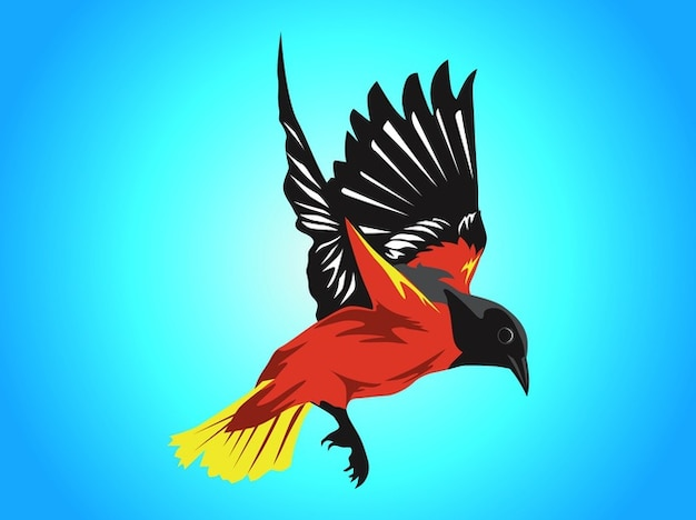 Colorful bird flying vector pack