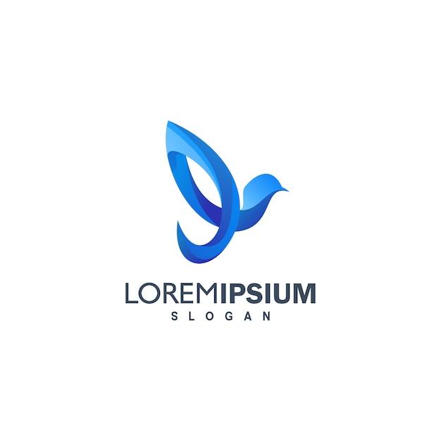 Colorful bird logo illustration Premium Vector