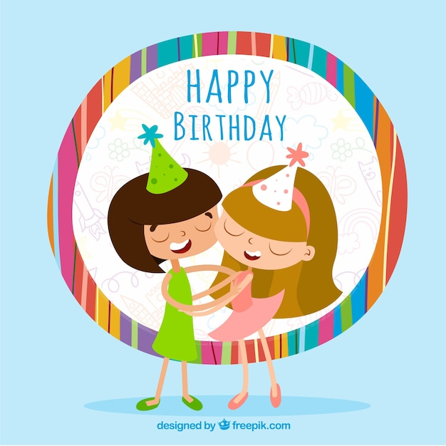 Colorful Birthday Card Vector Free Download