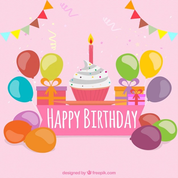 Colorful Birthday Greeting Card Vector Premium Download