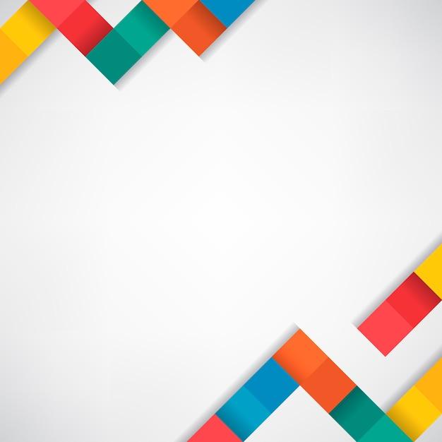 Красочные блоки на белом фоне пустой вектор Бесплатные векторы