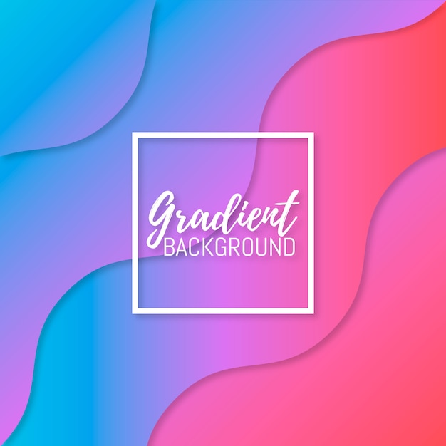 Colorful and blurred gradient background Premium Vector
