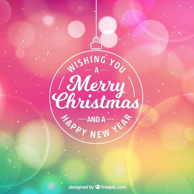 Colorful Christmas Background Design.Colorful Bokeh Christmas Background Vector Free Download