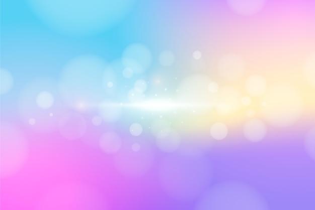 Colorful bokeh effect background Premium Vector