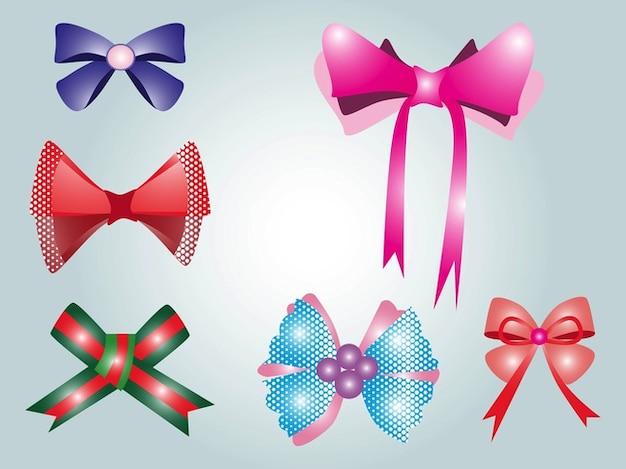 colorful bows decorative pattern vectors vector free download. Black Bedroom Furniture Sets. Home Design Ideas
