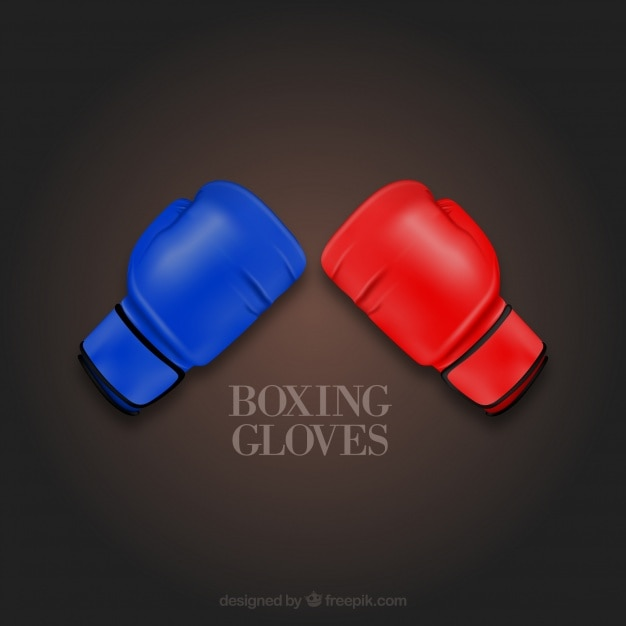 Colorful boxing gloves vector icons Free Vector