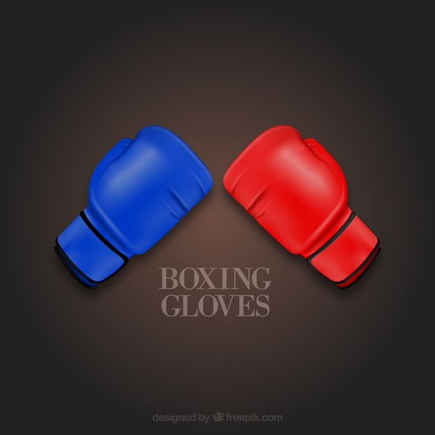 Colorful boxing gloves vector icons