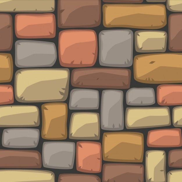 Colorful brick wall texture Free Vector
