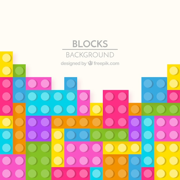 Colorful bricks background Free Vector