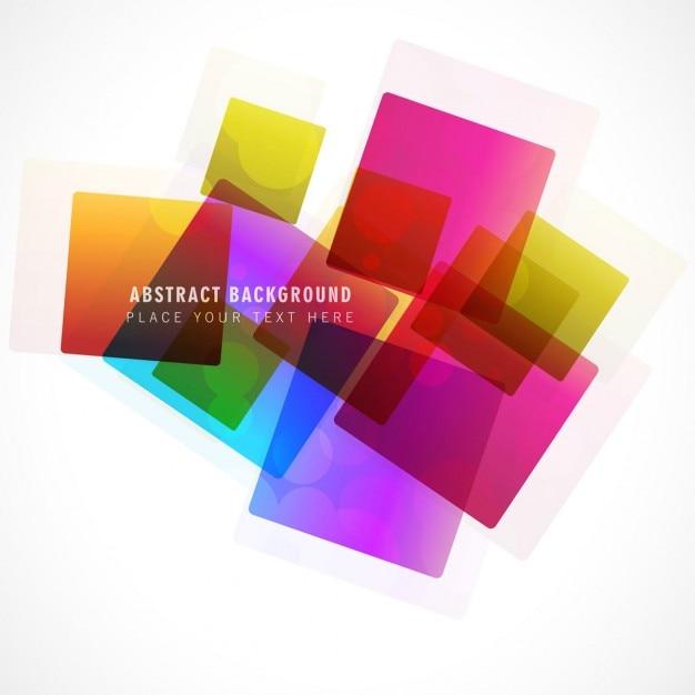 Colorful bright squares