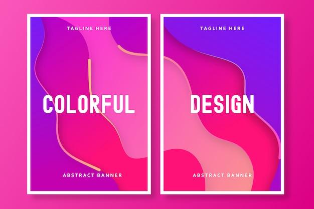 Colorful brochure design Premium Vector