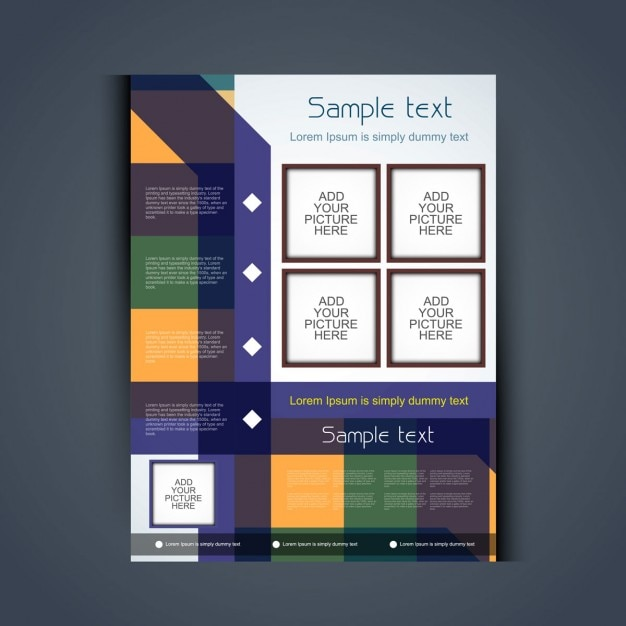 colorful brochure design - colorful brochure design vector free download