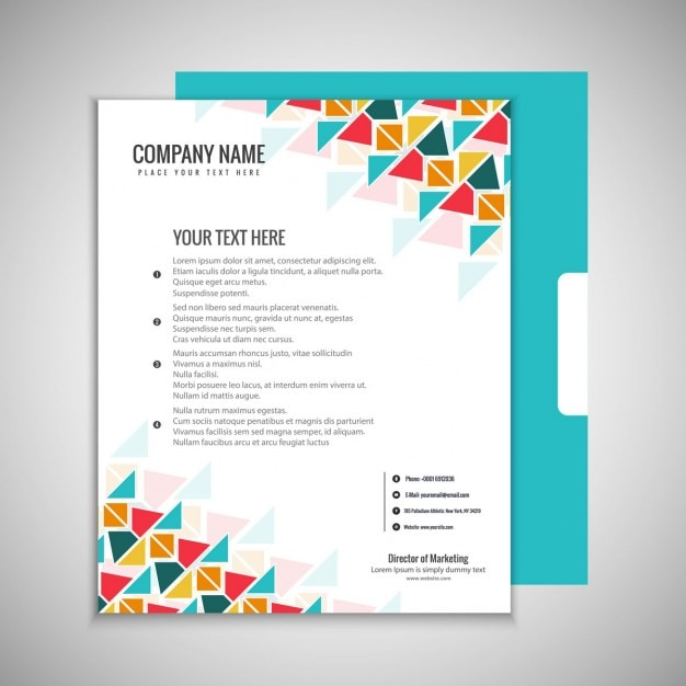 colorful brochure template vector free download