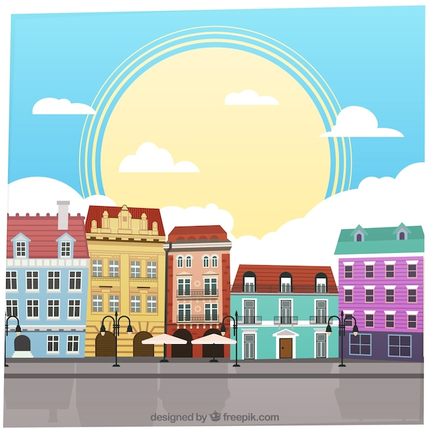 Colorful Buildings: Colorful Buildings Vector