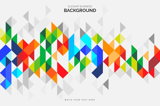 Colorful business background with geometric shapes Free Vector