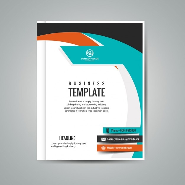 colorful business booklet vector free download