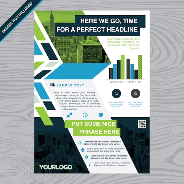 Colorful business brochure flyer layout template Vector – Sample Business Brochure