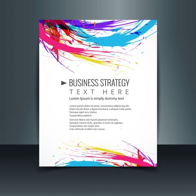 Colorful business brochure vector free download for Colorful brochure