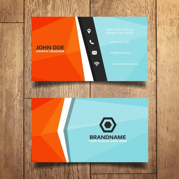 Colorful business card template vector free download colorful business card template free vector wajeb Image collections