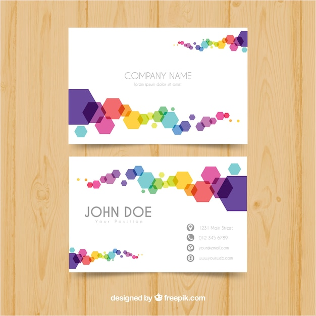 Colorful business card vector free download colorful business card free vector colourmoves