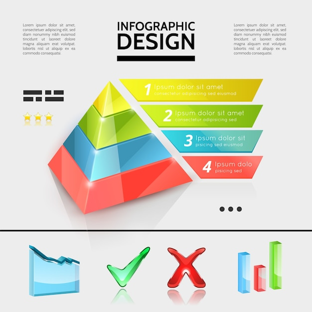 Colorful business infographic elements concept Free Vector