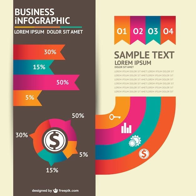 Colorful business infographic template Vector | Free Download