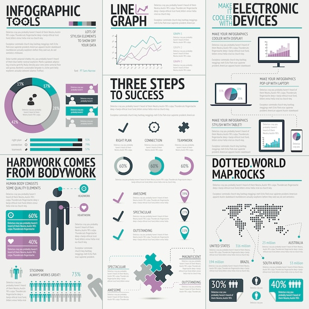 Colorful business infographic vector for a fresh presentation Premium Vector