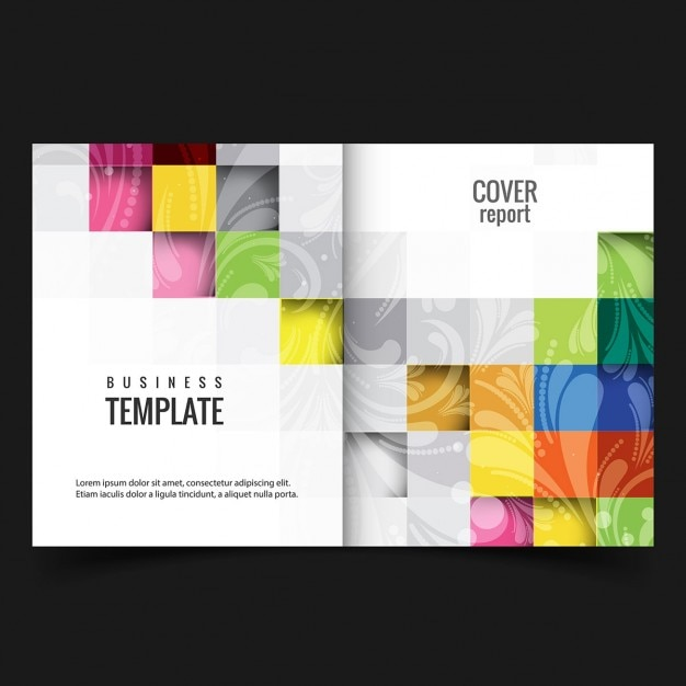 colorful business report cover vector free download