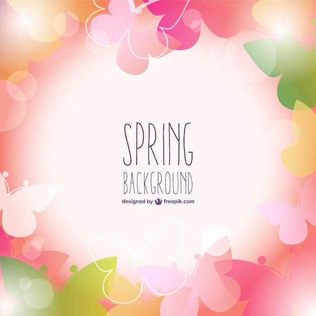 colorful butterflies spring background free vector - Spring Pictures To Download