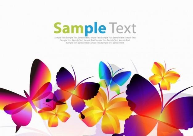 Colorful Butterflies Vector Art Vector Free Download