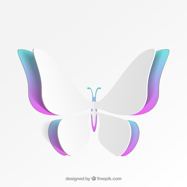 Colorful butterfly of paper Free Vector
