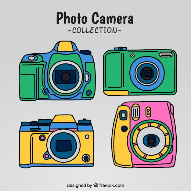 Colorful camera collection