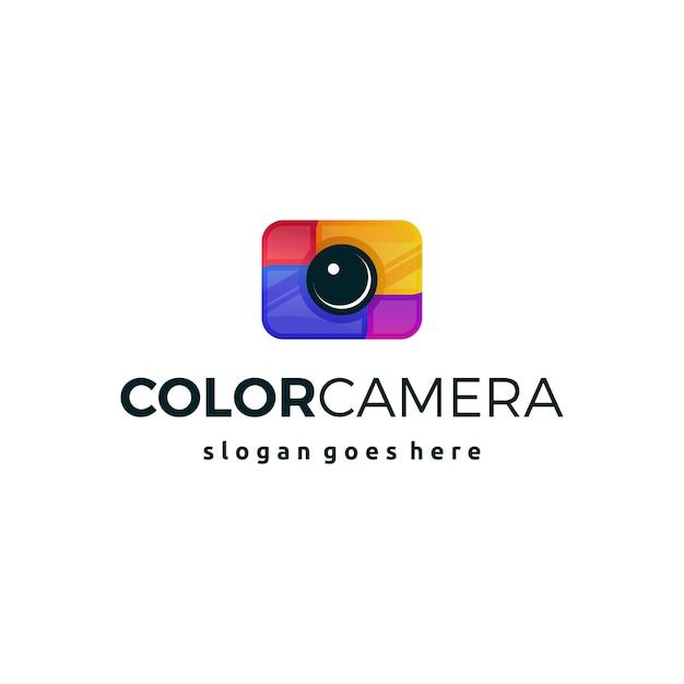 カラフルなカメラのロゴアイコンのシンボル Premiumベクター