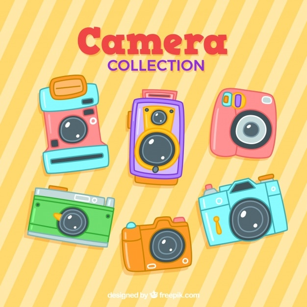 Colorful cameras collection