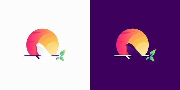 Colorful canary silhouette logo