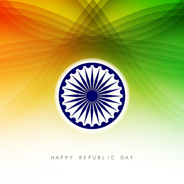 Colorful card of Indian Republic Day