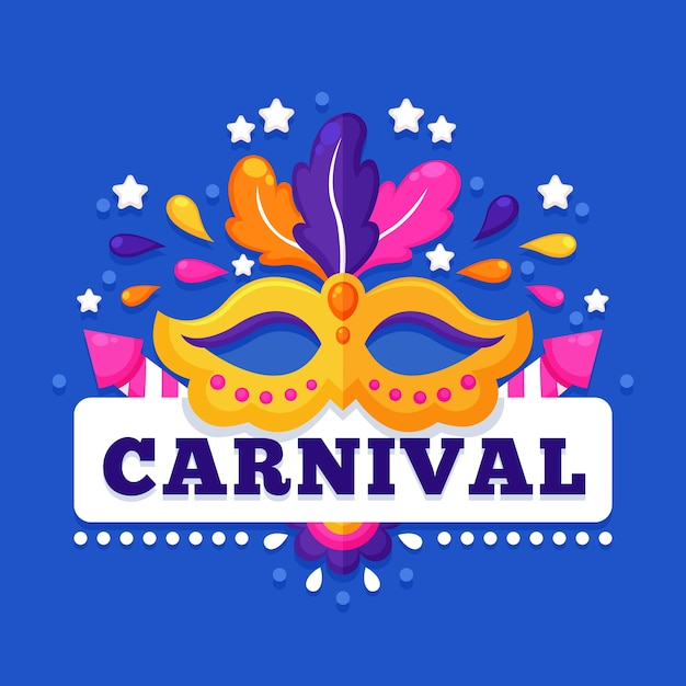 Colorful carnival in flat design Free Vector