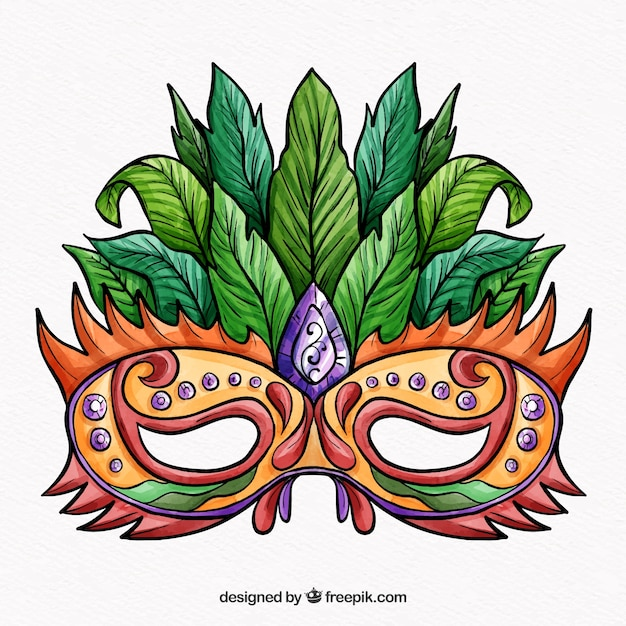 Colorful Carnival Mask Free Vector