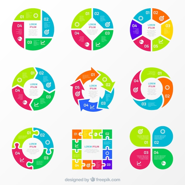 Colorful charts for infographic vector free download colorful charts for infographic free vector ccuart Images