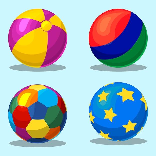 Colorful children s flatable ball Premium Vector