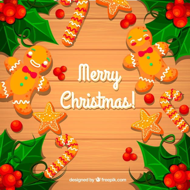 Colorful Christmas Cookies Vector Free Download