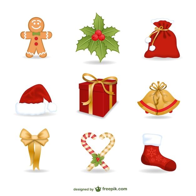 Colorful Christmas decoration elements